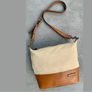 L. L. Bean Canvas & Leather Crossbody Satchel/Bag